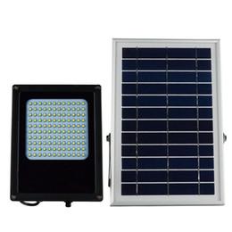 Luces led solar led solar en venta-120pcs 3528 SMD LED 15W Lámparas solares 6V * 6W Luz del jardín del panel solar Luz solar al aire libre 600-800 del proyector ligero Ultra brillante