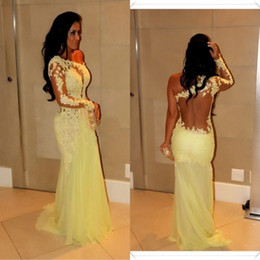 Stunning Lace Evening Dresses Applique Sexy Backless Prom Dress Arabic Dubai Kaftan One Shoulder Party Gowns Saudi Arabian Abaya robe de