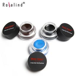 Rosalind Eyes Makeup Gel Eyeliner Cosmetics Set Eye Liner Kit 3 Color Optional Water-proof And Smudge-proof Brand Music Flower