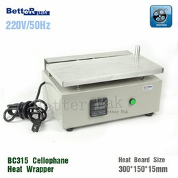 Wholesale BC315 Manual Cellophane Wrapping Machine Cigarettes cosmetics poker box blister film packaging machine blister sealing machine