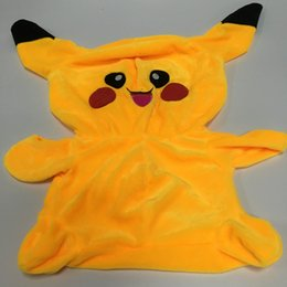 Wholesale Pokeman Pikachu cm Plush Doll Cover Japan Pocket Monster Cartoon Plush Toys Cover only NO PP cotton fillers DHL freeship