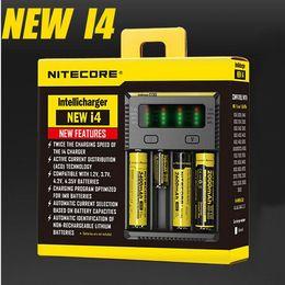Wholesale 100 auténtico Nitecore NUEVO I4 Intellicharger universal mAh máxima de salida e cig cargadores para batería