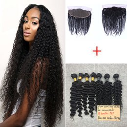 Brazilian Kinky Curly Virgin Hair Weaves 4 Bundles with Lace Closures Unprocessed Malaysian Peruvian Remy Human Hair Corchet Hair Extensions
