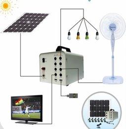 Wholesale 40W solar power system for home lighting backup power for solar TV FAN moible house solar energy generator