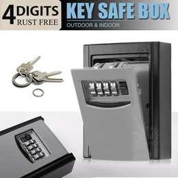 Wholesale OUTDOOR HIGH SECURITY WALL MOUNTED KEY SAFE BOX CODE SECURE LOCK STORAGE Digit Combination Safe Outdoor Security
