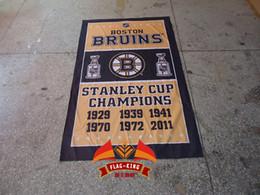 Boston Bruins football soccer club banner,polyester 90*150cm, flag,Boston Bruins Ice hockey Rugby club flag