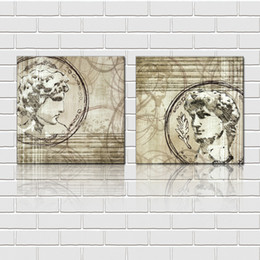 Free shipping unframed 2 Pieces picture Canvas Prints Imitation hand drawn Abstract oil painting David sculpture orchid Chrysanthemu flower