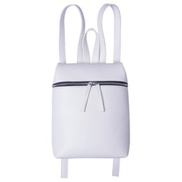 Simple Style Designer Small Backpack Women White and Black Travel PU Leather Ladies Backpacks Fashion Female Rucksack bag