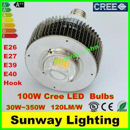 Wholesale High Power Cree LED Bulbs W W W W W W W W E39 E40 Hook High Bay Light Warehouse shop supermarket lights