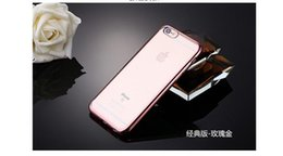 Luxury Newest 5 Colors Custom Cellphone Case TPU Electroplate Phone Case for Apple Iphone 6   6s plus Iphone SE Case