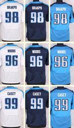 Wholesale 2016 New Men s Brian Orakpo Al Woods Jurrell Casey white Blue Light Blue Top Quality jerseys Drop Shipping