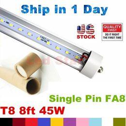 Wholesale t8 led tube ft single pin FA8 LED Tubes Lights W LED Fluorescent Tube Lamps V UL FCC Listed
