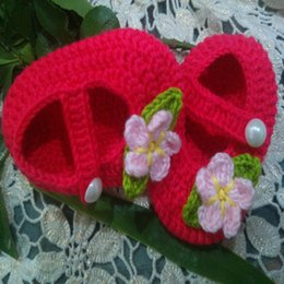 2016 Crochet Cotton handmade baby shoes,Crochet Baby Booties  soft toddler shoes flowers ,girl shoes,baby wear 0-12M cotton