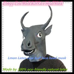 Creepy Cow Mask Bull Head Mask Creepy Animal Halloween Costume Theater Prop Novelty Latex Rubber Funny Bull Mask Free Shipping