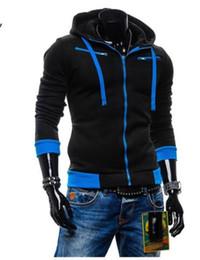 Wholesale- New Style Men's Fashion Cardigan Napping Hoodies Popular Zipper Fleece Hoodie Jacket mens hoodies and sweatshirts sports