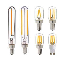 Wholesale T20 Tubular Lamp Refrigerator LED Filament Bulb W W G9 E12 E14 Base K K V VAC Dimmable