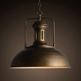 Wholesale Retro Industrial Style Pot Lid Shape Lustres mm Loft Heavy Pendant Lamp Antique Cord Pendant Light For Bar Bedroom Study