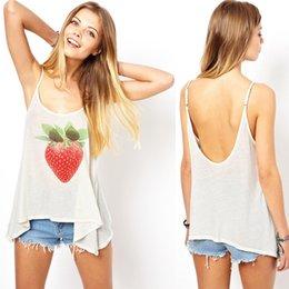 2017 imprimé floral t-shirts femmes Nouveau T-shirt de fille de mode de femmes Impression de fruits de fraise T-shirt de coton de haute qualité de T- abordable imprimé floral t-shirts femmes