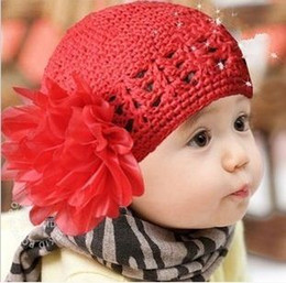10 pcs lot Crochet Toddler Flower Beanie Knitted Crochet Hat Beanie Handmade Cap For Newborn Baby Toddlers Girls