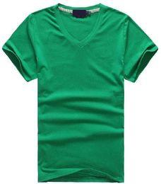 Free shipping Hot 2016 100% cotton men V-neck short T-Shirt brand men shirts casual style for sport men T-Shirt size S-XXL