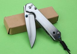 Top Funtion Chris Reeve Sebenza 21 Knife 440C Steel Satin Drop Point Plain Tactical Hiking Knives With Retail Box F96L