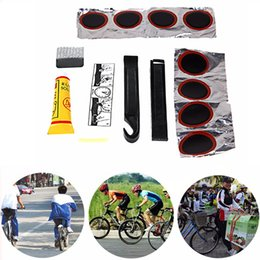 Wholesale-Bicycle Tire Repair Tools Kits Cycling Tyre Puncture Repair Tire Flat Set Patch Rubber Portable Fetal Best Quality Easy To Carry