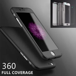 2017 iphone vidrio de alta calidad Ultrafinos duros iphone híbrido de PC teléfono celular casos Cubre con Slim vidrio templado Protector de pantalla para iPhone 6 6s más alta calidad iphone vidrio de alta calidad outlet
