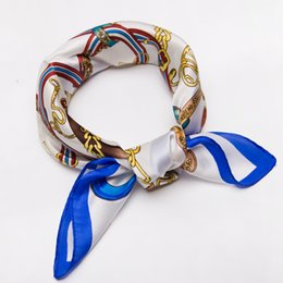 Wholesale 100 Pure Silk Scarves Ladies High end Bag Scarf Small Square Scarves Dance Show Bow Ribbon Headscarf Fashion Design wrap