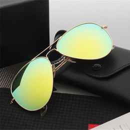 Wholesale Luxury Men Women Sunglasses New Fashion Unisex Glasses UV Mirro Eyewear For Adult Cheap Online