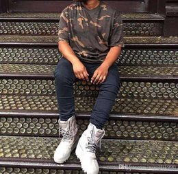 Wholesale 2016 season shirts clothing BEST QUALITY brand mens hip pop oversized t shirt west camo camouflage urban half sleeve Tee