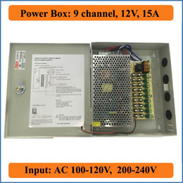 9 Port DC12V 15A CCTV Camera Power Box Switching Power Suply BOX for Security IP Camera 9CH channel AC 100-240V to DC 12V Output