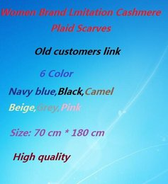 Wholesale Newest Fashion Winter Scarf Women Plaid Scarf Shawls Brand Scarves For Women Thick Imitation cashmere Neck Warmer