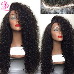 HOT! Free shipping Beauty heat resistant synthetic lace front wig kinky curly nature black wig glueless curly wig with baby hair for woman