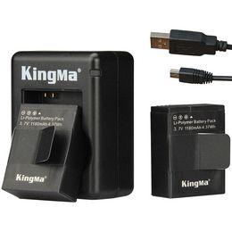 Compra Online Usb gopro-Kingma 2pcs de la batería 1180mah + doble cargador + cable USB (doble) para GoPro Hero 3/3 + .Gopro Accesorios Go Pro de la batería