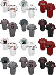 Men's Arizona Diamondbacks #21 Zack Greinke #38 schilling Cool Base Black White Red Grey Wholesale Cheap Jersey Embroidery Logos Top Quality