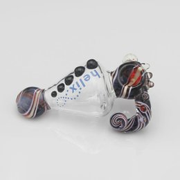 Wholesale 15cm Length quality hand made Glass Spoon pipes Glass Smoking pipes glass hand pipes glass bubblers erietiform glass pipes
