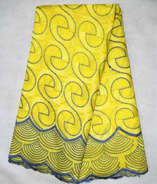 5 Yards lot yellow double color high cotton fabric,popular african cotton lace fabric fro clothing BC122-5