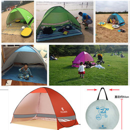 Wholesale Quick Automatic Opening Easy Carry Tents Outdoor Camping Shelters UV Protection People Tent Beach Travel Lawn Family Party Fast Shipping