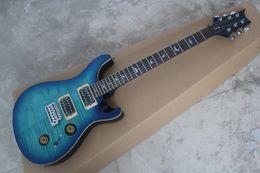 Wholesale New Arrival Bird Fretboard Custom fret Electric Guitar Quilt Top Gold Hardware