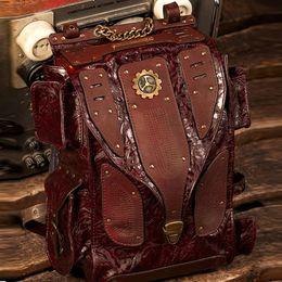 Best Mens Backpacks Rock Designer Outdoor Travel Leather Backpacks Hiking Large Capacity Computer Backpacks B14