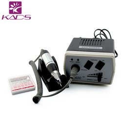 Wholesale KADS W Black Pro Electric Nail Drill Machine Nail Art Equipment Manicure Pedicure Files Electric Manicure Drill Accessory