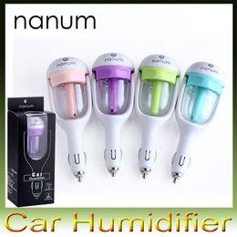 Wholesale Nanum Car Plug Air Humidifier Purifier Vehicular essential oil ultrasonic humidifier Aroma mist car fragrance Diffuser Car air fresheners