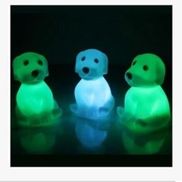 Novelty Animal Frog Dog Turtle Seven Colors Changeable Led Flashing Night Lights Lamp Toys for New Year's Christmas Birthday Novelty Gifts