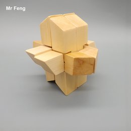 Fun Kong Ming Lock 3D Wooden Rocket Puzzle Toy For Children
