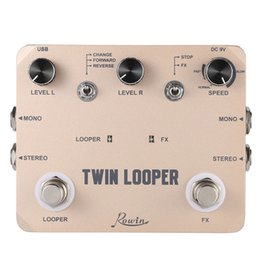 Wholesale Top Quality TWIN LOOPER Guitar Effect Pedal Mono Stereo Input Output Sound Recording with USB Cable Aluminum Alloy