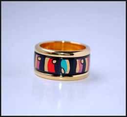 American Wind Series 18K gold-plated enamel rings Top quality ring for women band rings for gift