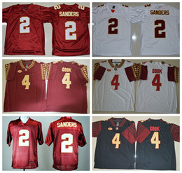 Wholesale Florida State Seminoles College Jerseys NCAA FSU Football Jersey Deion Sanders Dalvin Cook Fashion Team Color Red White Black