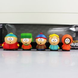 South Park Stan Kyle Eric Kenny Leopard PVC Action Figure Toys for kids gift 5.5cm 5pcs set