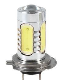 Wholesale Car Parts Headlight Bulb - H7 Ultra bright Led Fog Light Car Headlight Bulb COB 7.5W 12V-24V Auto Parts Fog lights