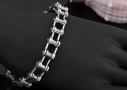 Wholesale Hot Sell Fashion Biker Bicycle Chain Stainless Steel Men Bracelet Naver Fade Vintage Jewelry Gift